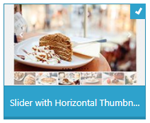 Slider with Horizontal Thumbn